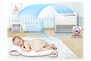 Samsung varmepumpe-gulvmodel-værelse