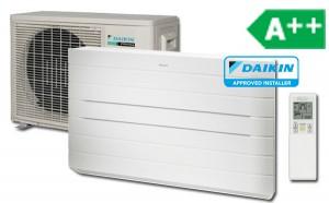Daikin FVXG25 Varmepumpe, Gulvmodel, Luft til luft, Inverter kompressor, daikin-fvxg25, daikin-fvxg35, daikin-fvxg50